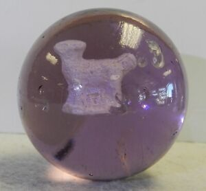 #12247m Rare Vintage Purple Glass Sulphide Sulfide Marble 1.98 Inches