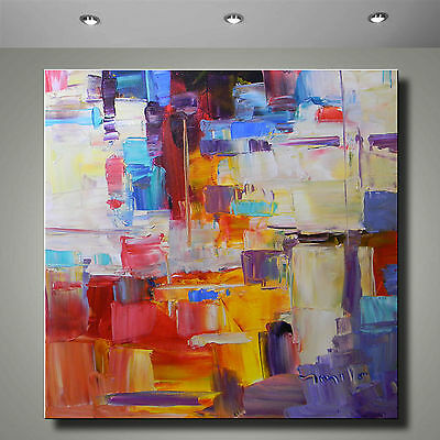 "30"" LARGE JOSE TRUJILLO IMPRESSIONIST PLEIN AIR OIL PAINTING ABSTRACT BRIGHT ART"