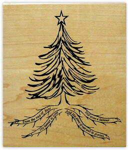 image is loading root of jesse mounted rubber stamp religious christmas