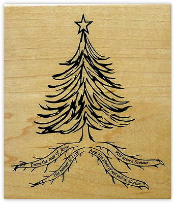 Root of Jesse Rubber Stamp Mounted - Religious Christmas ...
