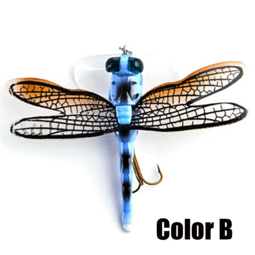 Eyes Topwater  Flies Insect Treble Hooks Dragonfly Fly Fishing Lure Bionic Bait