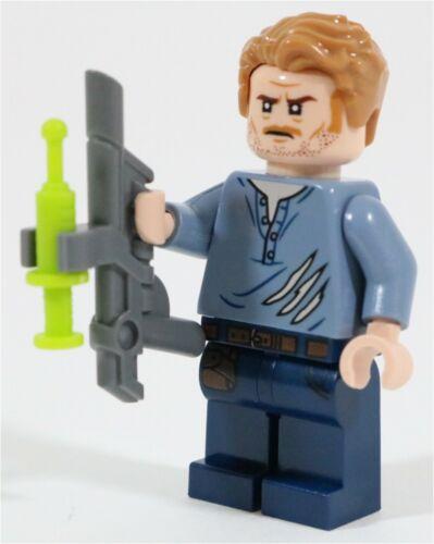 LEGO JURASSIC WORLD OWEN GRADY MINIFIGURE 75929 RIPPED T-SHIRT NEW GENUINE