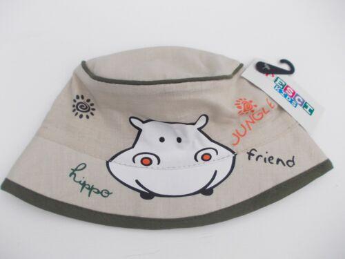 Neu mit Etikett Baby Jungen Little Hippo Freunde Beanie-Mütze Sonnenhut