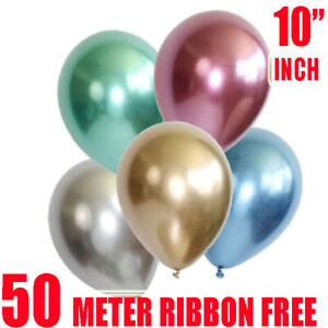 10Pcs-set-10-034-Metallic-Chrome-Balloon-Bouquet-Party-Birthday-Wedding-Decor-Shiny