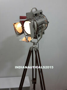 Vintage Hollywood Studio Marine Searchlight Floor Lamp With Chrome ...