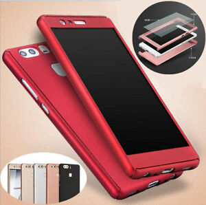 another chance f15e4 7f04e Details about 360° Full Armor Hybrid Case + Tempered Glass Cover For for  Huawei Ascend P9 Plus