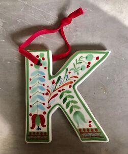 Image Is Loading New Anthropologie Ceramic  Monogram Christmas