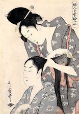 Hairdresser, Kamiyui Kitagawa Utamaro Japan Tracht Haarnadel Frisur B A3 02764