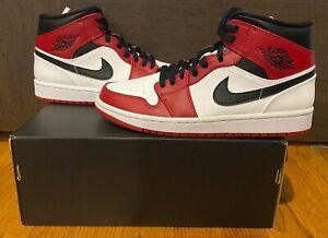 Air Jordan 1 Mid Chicago 2020 White Heel Sizes 8 12 554724 173 Ebay