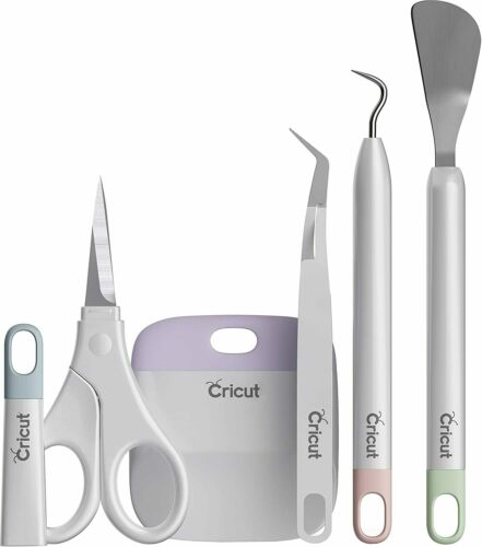 #2006695 Weeder, Scissors Cricut BASIC TOOL SET 5PC w// CORE COLORS End Caps