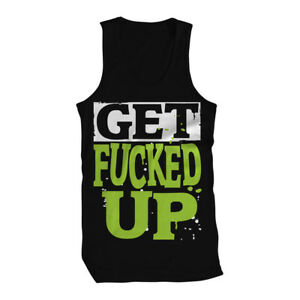 0453edf5ffb79f Get F   ed Up Turnt Up Crunk Beer Alcohol Mens Tank Top