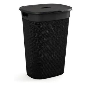 Colore Nero Portabiancheria da 55 Litri Kis 67160000022 Materiale Plastica