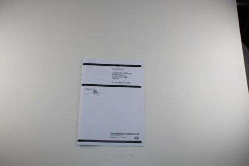 9-5769 1979 The David Brown Supplement to Low Profile Q-Cab Tractors