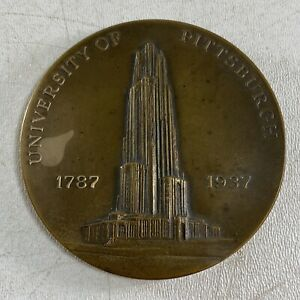 Vintage University of Pittsburgh 1787-1937 Bronze Medal Commemorative Coin