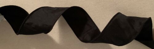 French Wire Edge Ribbon Black Iridescent Heavy Jacquard from India