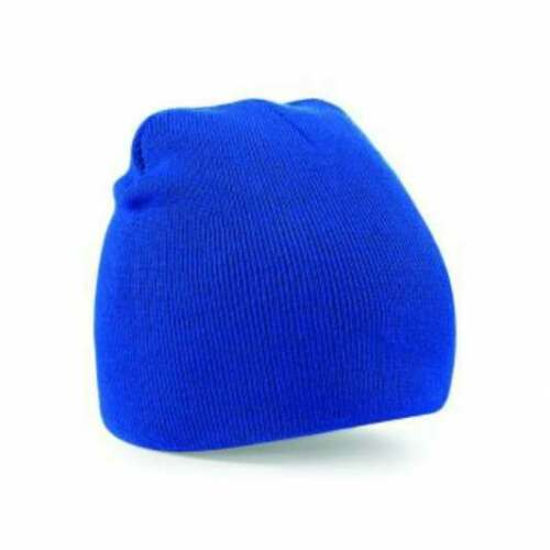 Custom embroidered beanie hat personalised text /& logo option cuffed or plain