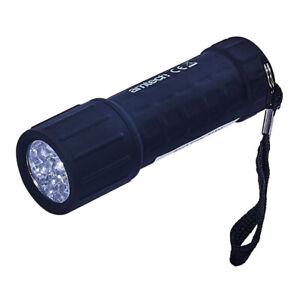 ULTRA luminosa potente 9 LED PER CAMPEGGIO TORCIA LAMPADA A LUCE FLASH LUCI AMTECH S1532