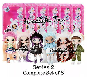 Complete-Set-of-6-Series-2-Na-Na-Na-Surprise-Fashion-Dolls-Pom-Purses-In-Hand