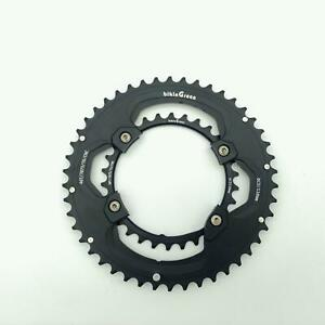 bikinGreen-CNC-Chainring-46-30T-FoR-Shimano-4-Arm-10-11Spd-Road-Cyclocross-Tour