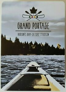 Hudson-039-s-Bay-Grand-Portage-Playing-Cards-HBC-Canoeing-Riverside-NEW-SEALED