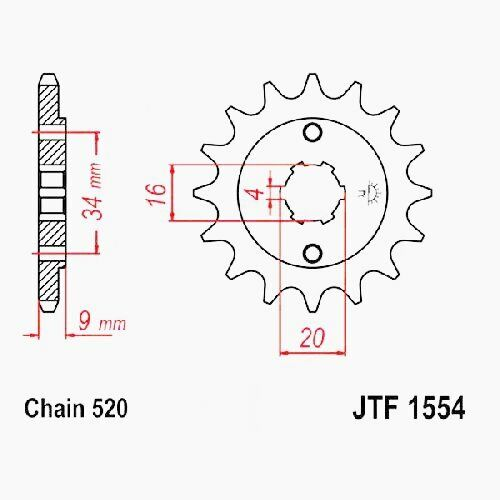 520 JTF1554.13 Hyosung GV 250 MJ56A Bj RITZEL 13Z T 2012-2013