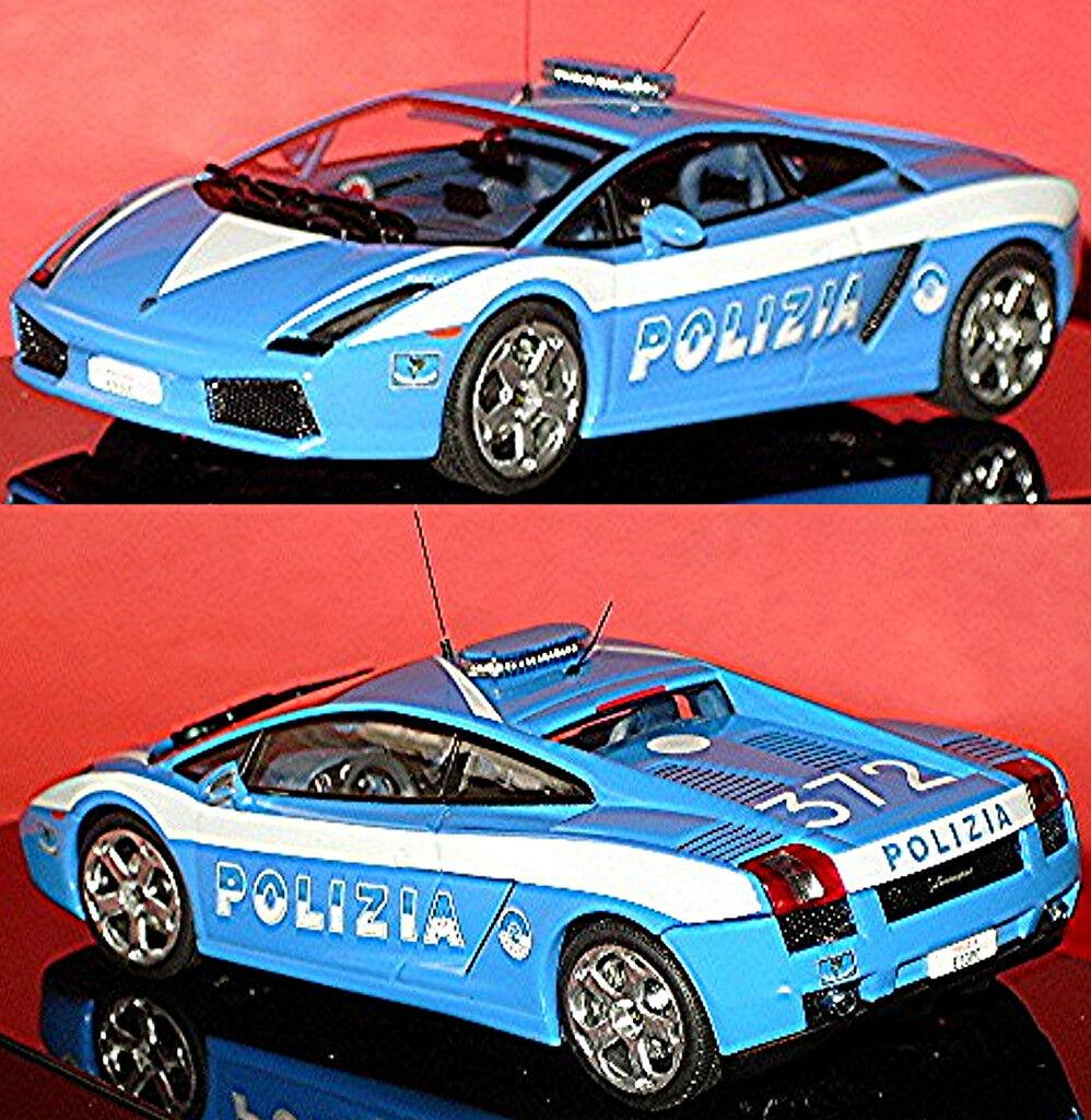 Lamborghini Gallardo Polizia  Azul Azul 1 43 Autoart