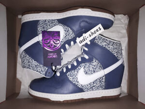 more photos 33669 58e37 Image is loading NIKE-DUNK-SKY-HI-LIB-LIBERTY-OF-LONDON-