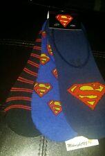 NEW 3 PAIRS WB SUPER HERO SUPERMAN MEN'S LINER SOCKS SZ 6-12