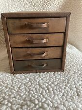Vintage Small Metal 4 Drawer Parts Tool Cabinet Chest Box Industrial Steampunk