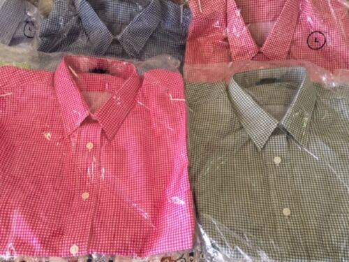 Las Olas L//sleeved Gingham Shirts  Sizes//Plain EMAIL FOR COLOR AVAILABILITY