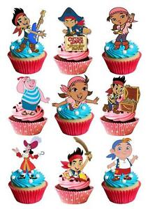 34 Jake And Neverland Pirates Stand Up Cupcake Cake Topper