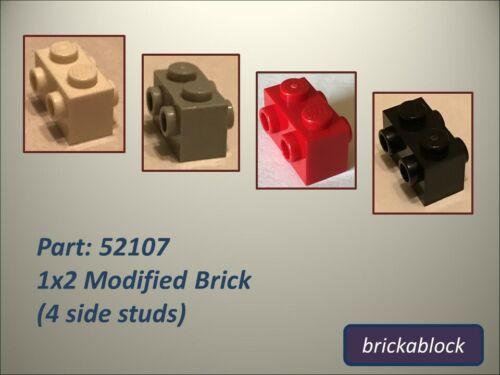 4 Side Studs Choose 2,4,6,8 or 10 **NEW /& GENUINE** Lego Part 52107 1x2 Brick