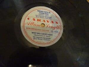 Details about Smoke Gets in Your Eyes Why Do I Love You? 78 RPM Caravan  Record 1950 CL102