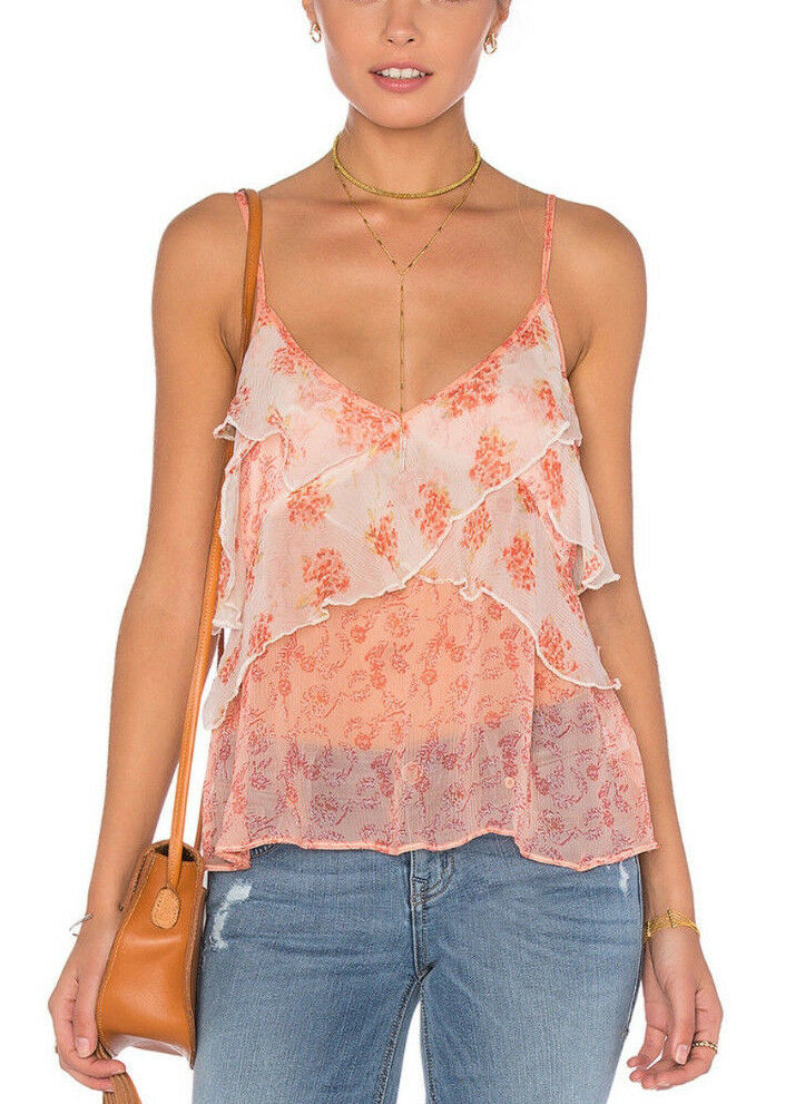 Free People OB496272 All Things Tank Top Spaghetti Strap Ivory XS