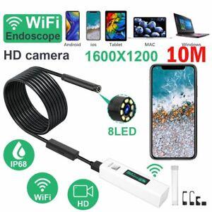 Wasserdicht USB Wifi Endoscope Inspektion Kamera Rohrkamera iPhone Android PC