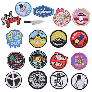 Details about iron-on patch embroidery appliques badges for decorate  clothing bag DIY appliHEP