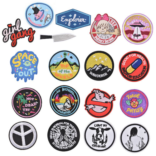 iron-on patch embroidery appliques badge for decorate clothing bag DIY HGUK