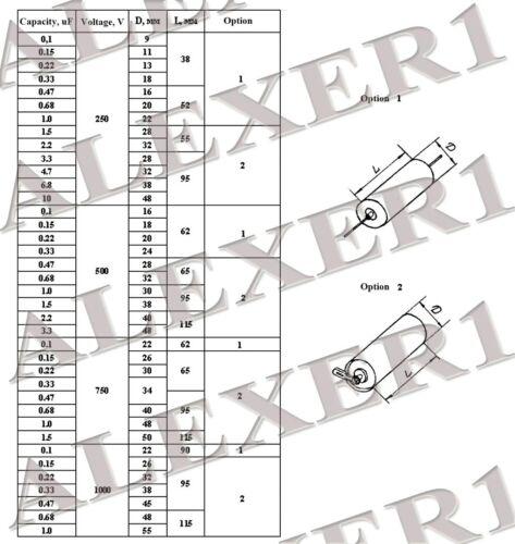 2.2uf 250v k75-10 pio capacitors audio capacitors various russian 0.1uf