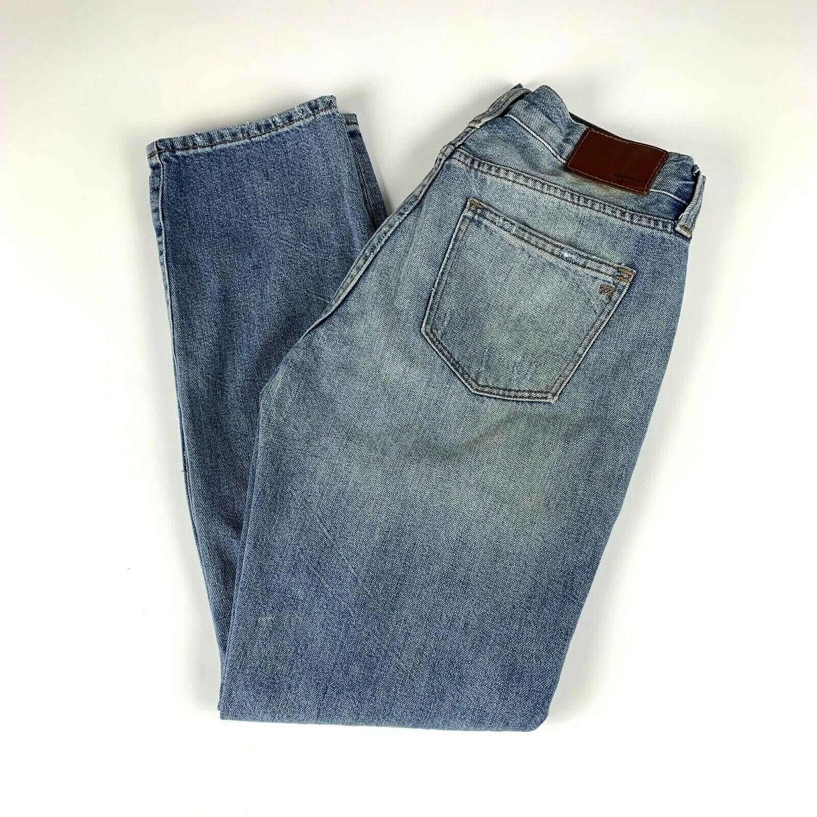 Madewell Womens Size 25 Jeans Boy Jean Cotton Destructed Style