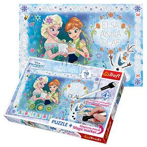 Trefl 70 Teile Puzzlespiel Marker Madchen Disney Frozen Anna
