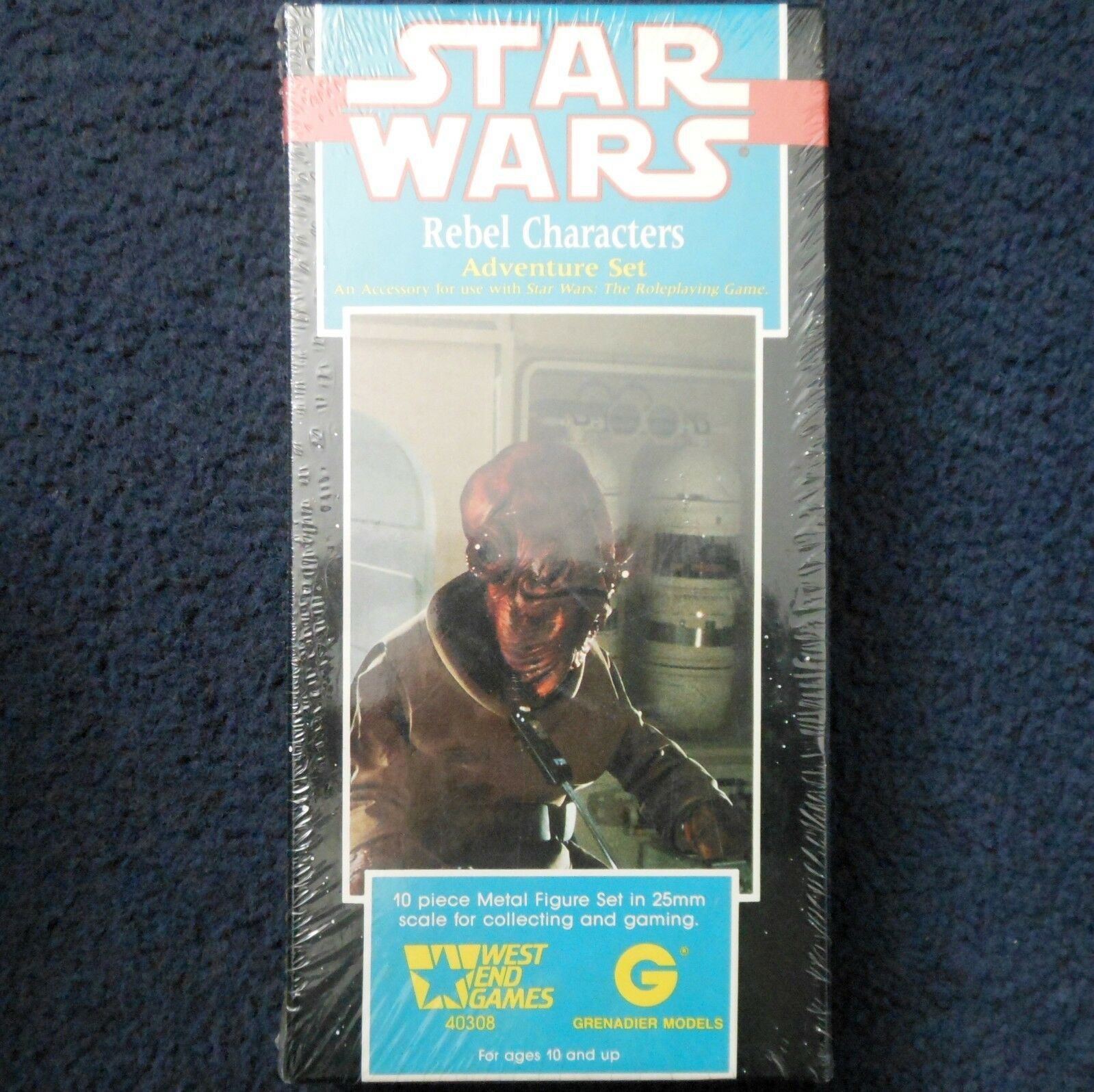 1989 Rebel Characters Grenadier West End Games Star Wars 40308 WEG Adventure Set