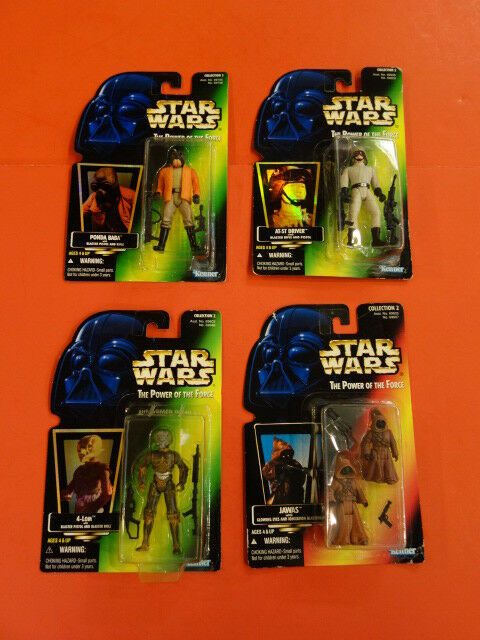 STAR WARS Power Of The Force Jawas Ponda Baba At St Driver 4-lom 4 Figures Nip