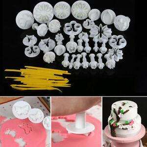Image Is Loading 47 Pc CAKE DECORATING SUGARCRAFT FONDANT PLUNGER CUTTER