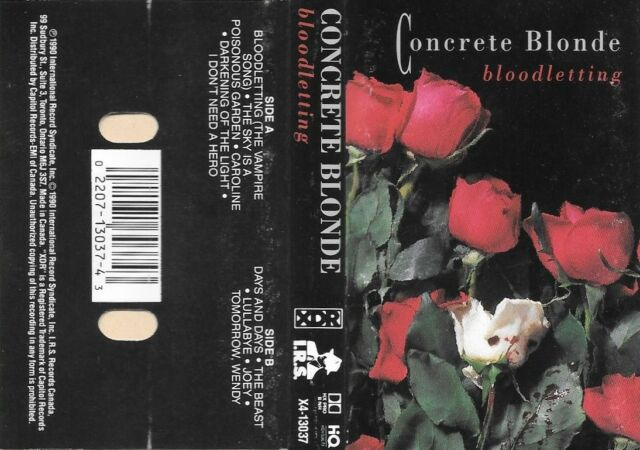 CONCRETE BLONDE  :  BLOODLETTING   ( CAPITOL , CANADA )