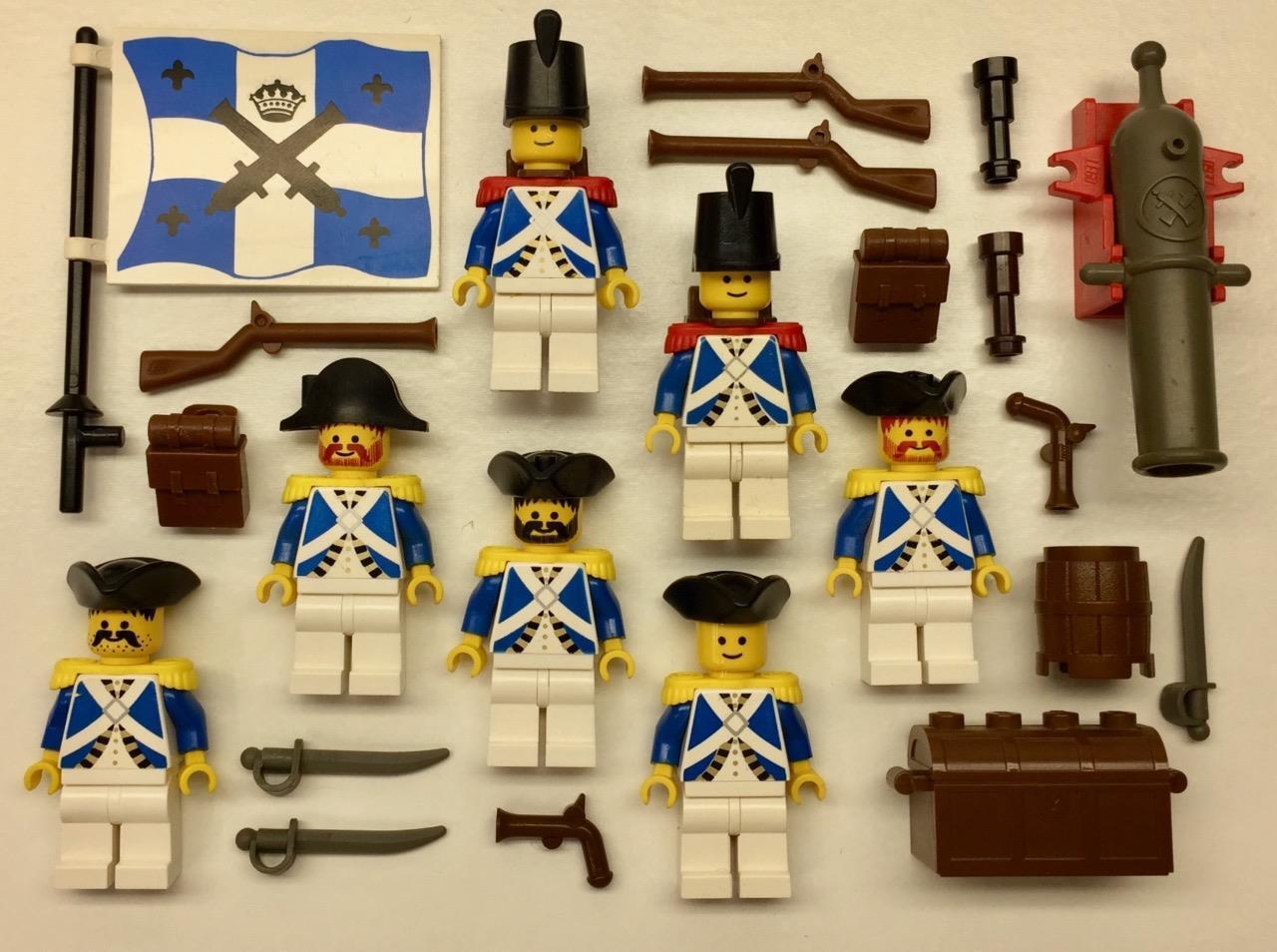 7 Lego Soldati Minifigs Lotto: British Armadas Imperiali Pirates Vintage