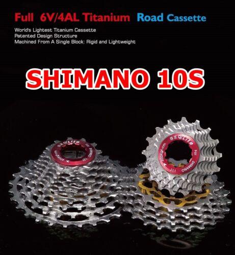 SeqLite Shimano Ultegra Dura Ace 10 Speed Compatible Full Titanium Road Cassette