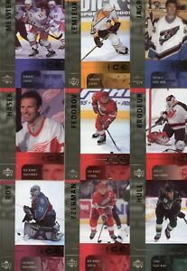 2001-02-Upper-Deck-Ice-Complete-42-Card-Base-Set-Lemieux-Roy-Jagr-Hull-Hasek