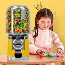 Yellow Bulk Vending Gumball Candy Machine Countertop Treat Dispenser With Keys
