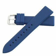 Hadley-Roma 20mm Blue Men's Silicone Waterproof Diver Watch Band Strap MS3312