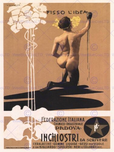 ADVERT CHEMICAL INK ART SUPPLIER PADOVA ITALY POSTER ART PRINT PICTURE BB1730B